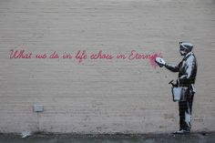 Banksy Gladiator Wisdom (Better Out Than In - Day 14)