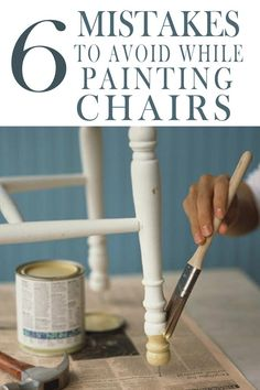 7 Mistakes People Make Painting Kitchen Chairs - Painted Fur.- 7 Mistakes People Make Painting Kitchen Chairs – Painted Furniture Ideas Learn how to paint your kitchen chairs correctly! Don& make these mistakes! Painting Kitchen Chairs, Chalk Paint Kitchen, Painted Kitchen Tables, Kitchen Furniture, Painted Tables, Kitchen Wood, Kitchen Ideas, Refinishing Kitchen Tables, Kitchen Dresser