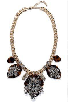 Tortoise Deco Necklace
