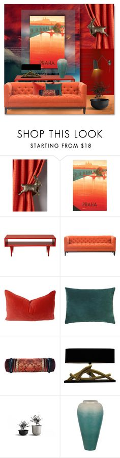 """""""Artsy Travel Posters"""" by passion-fashion-2 ❤ liked on Polyvore featuring interior, interiors, interior design, home, home decor, interior decorating, Anthropologie and Designers Guild"""