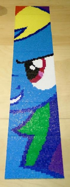MLP Rainbow Dash hama beads by Wolliges Papier by Wolleplanet - https://youtu.be/UzPR0-inme8