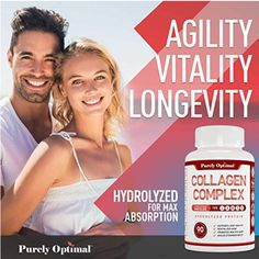 Collagen is the most abundant protein in our bodies, and is found in our skin, bones, muscles, hair, joints, and tendons just to name a few places. As we age, our collagen supply naturally gets depleted resulting in the familiar aches, pains, weakness, dry and wrinkled skin. That's where our Purely Optimal Collagen Complex comes in. Collagen Pills, Collagen Protein, Healthy Skin, Healthy Life, Protein Blend, Wrinkled Skin, Type I, How To Run Faster, Muscles