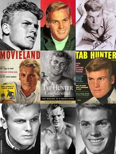 """Tab Hunter (b. Arthur Andrew Kelm; July 11, 1931) is an American actor, singer, former teen idol & author who starred in over 40 major films. He joined the Coast Guard at the age of 15, lying about his age to enlist. While there he gained the nickname """"Hollywood"""" for his penchant for watching movies rather than going to bars while on liberty. Hunter came out in a 2006 autobiography & told of a longterm relationship with Tony Perkins. He & partner Allan Glaser have been together for 30 years."""