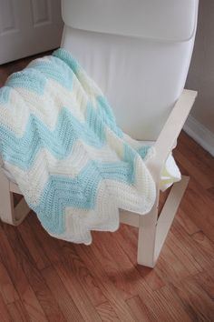 Chevron crochet pattern - the pattern but not the colors.