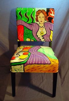 Colorful Matisse Chair by The Blue Door Studio