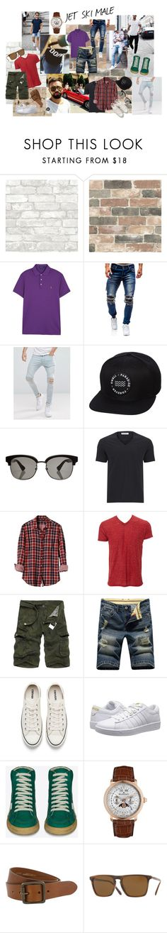 """JET SKI MALE"" by milana-james on Polyvore featuring Wall Pops!, Polo Ralph Lauren, Religion Clothing, Swell, Gucci, Versace, Banana Republic, Simplex Apparel, Converse and K-Swiss"