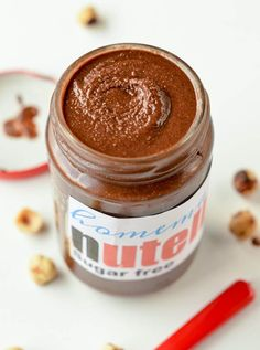 Sugar free nutella, like a real nutella spread, this keto nutella recipe is creamy, chocolaty, rich and easy to spread on toast. Dairy free, vegan,low carb.