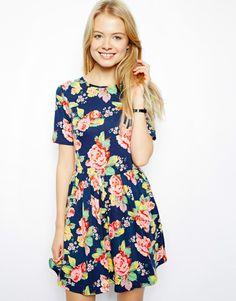 ASOS | ASOS Skater Dress In Floral Print at ASOS