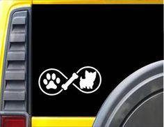 Yorkie Infinity Decal Yorkshire Terrier Sticker *J405*