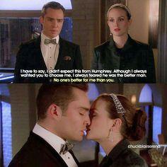 Chuck and Blair #GossipGirl #ChairGossipGirl