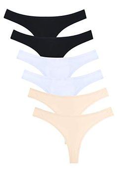 af518b292 Wealurre Women s Low Rise Thongs Cotton Stretch Panties Breathable Bikini  Underwear Multipack