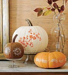 pretty pumpkin decorating