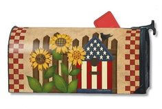 Magnetic mailbox covers by Mailwraps Americana Garden. Shop entire collection of 4th of July patriotic mailbox covers. Free shipping on $49 orders