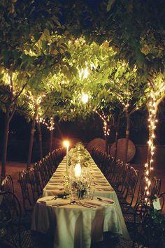 brides of adelaide magazine - outdoor wedding - reception - night