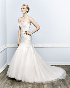Kenneth Winston Couture Style 1656 #weddingdress #bridal www.dansbridalandtux.com