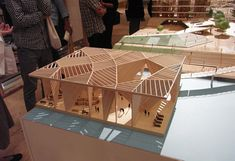ro : 高橋晶子+高橋寛 / ワークステーション Concept Models Architecture, Architecture Model Making, Timber Architecture, Architecture Drawings, Architecture Design, Arch Model, Roof Design, Model Homes, Play Houses