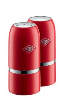 Our Wesco Salt & Pepper Shaker Set in Red will shake up your culinary skills! #wesco #shakeitup