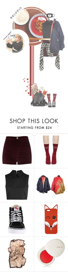 """""""Gaia _ Chicken Watch w/ Mina"""" by purrfectas ❤ liked on Polyvore featuring River Island, Vetements, McQ by Alexander McQueen, Christian Dior, Vans, Maison Kitsuné and lilah b."""