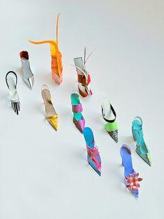 paper sculpture shoes