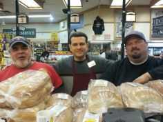 Fresh Italian and all other types of bread available here at Ferraro's daily. (L-R) George, Lupi-Legna Bakery, Tony Customer Service Manager & Bruno, Venice Bakery.