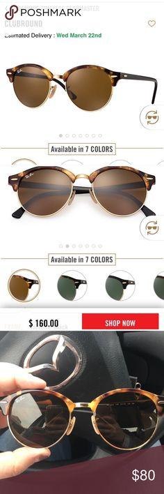 Like new Ray-Ban club master Like new!! Don't have the case anymore but will ship safe and secure! Ray-Ban Accessories Sunglasses