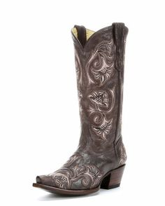 Women's Chocolate Floral Stitch Boot - G1085 Option four for my boots.