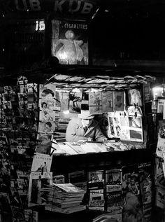Newstand  Paris 1930s  Brassaï