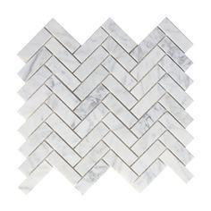 X sample piece of Carrara White Italian (Bianco Carrara) Marble 1 X 3 Herringbone Mosaic Tile, Honed. X sample piece of Carrara White Italian (Bianco Carrara) Marble 1 X 3 Herringbone Mosaic Tile, Polished. Marble Herringbone Tile, Marble Mosaic, Marble Floor, Carrara Marble, Mosaic Wall, Wall Tiles, Tile Floor, Herringbone Pattern, Mosaic Tile Sheets