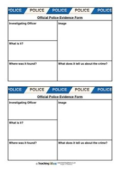 If your children are investigating a fictional 'crime' in your classroom, ask them to make notes about any evidence that they discover using our free printable writing forms!