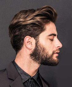 Para los #hombres. Engominado y suave. Aprenda el look: