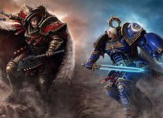 Angron vs Roboute Guilliman Warhammer 40k Art, Futuristic Art, Space Marine, War Hammer, Primer, The Horus Heresy, Space Wolves, La Legion, Emperador