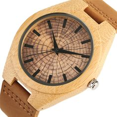 Trendy Stylish Hand made Quartz Wooden Watches for Men Women Wood Grain Genuine Leather Wristband Clasp Wristwatch-in Quartz Watches from Watches on Aliexpress.com | Alibaba Group Wooden Watches For Men, Leather Wristbands, Wood Watch, Wood Grain, Quartz Watches, Stylish, Alibaba Group, Handmade, Stuff To Buy
