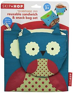 Skip Hop Zoo Reusable Sandwich and Snack Bag Set,  Owl Skip Hop http://smile.amazon.com/dp/B00G6EEC76/ref=cm_sw_r_pi_dp_.Io1ub0978ZBH