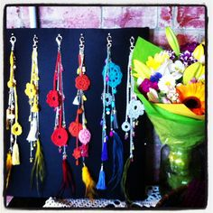 Crochet and beaded  chains  by Tanja Kozub Knitwear available @ Substation market Newport, Makers market @ Abbotsford convent