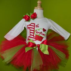 First Christmas Cupcake Tutu Set Outfit. More Birthday outfits