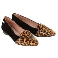 British footwear brand Jemima Vine has partnered with En Brogue blogger Hannah Rochell to create a pair of loafers. The two tone loafers feature black velvet and leopard print and come in a box decorated with an illustration by Hannah. The shoes, priced at £159, launch online today
