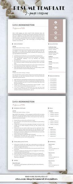 47 best CV format images on Pinterest in 2018 Tips, Job resume and