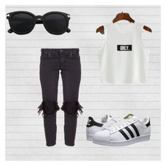 """""""909"""" by almaa-bann ❤ liked on Polyvore featuring One Teaspoon and adidas Originals"""