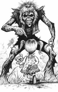 Meet the Daughter Iron Maiden Powerslave, Heavy Metal Music, Heavy Metal Bands, Arte Horror, Horror Art, Metal Viking, Iron Maiden Posters, Eddie The Head, Iron Maiden Band