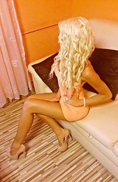 Long + Curls + Platinum Blonde