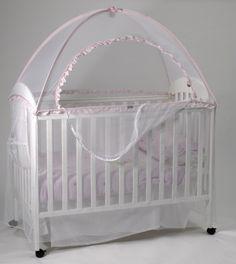 Cot Canopy Net-Babyhood - Standard 131 x 75 cm & Crib Tent- Pop-up Crib Safety Net Aussie Cot Net Co http://www ...