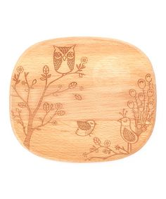 Take a look at this Owl & Peacock Cheese Board by Talisman Designs on #zulily today!