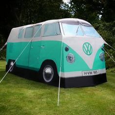 Green VW Camper Van Tent - Gifts & Novelty » Luggage and Travel - Mens Gifts from Menkind