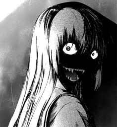 I love manga and horror so if this is an anime or manga tell me what it is! Anime Guys, Manga Anime, Anime Art, Arte Horror, Horror Art, Creepy Art, Scary, Creepy Faces, Manga Gore