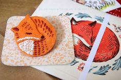 Fox brooch by Alisa of Ink Caravan | Flickr - Photo Sharing!