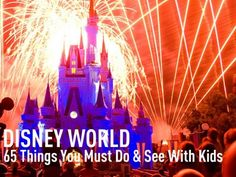 Disney World must do list.
