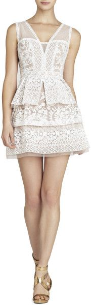 Love this: Fola Vneck Lace Tiered Dress @Lyst