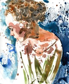 Original Woman Painting Figurative Modern от rachelsstudio на Etsy