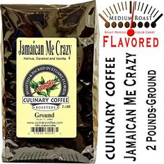 Culinary Coffee Roasters- Jamaican Me Crazy, Flavored Ground Coffee, 2-pound Bag Amazon Special-100% Satisfaction Guaranteed! ** For more information, visit image link.