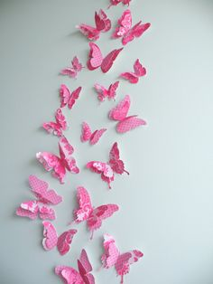 """3D Butterfly wall art to decorate Nursery, Children's Room, Bedroom or any other room - """"FancyPants"""" Set"""